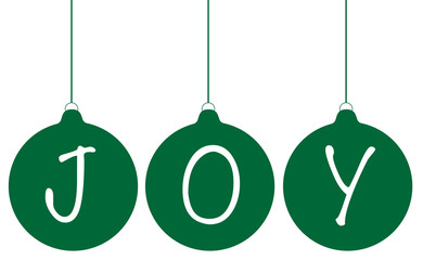 Green Joy Ornaments