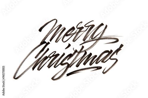 Quot modern brush calligraphy merry christmas stock photo