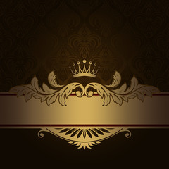Vintage background with decorative gold border.