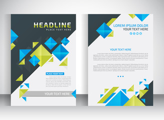 Brochure design A4 template. Vector illustration. Business Brochure place for pictures design. magazine cover.