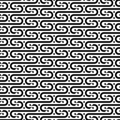 Seamless pattern wavy Japanese. 波型の和風パターン