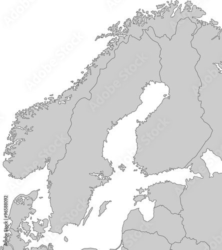 Skandinavien Karte Pdf.Karte Von Skandinavien Grau Stockfotos Und Lizenzfreie
