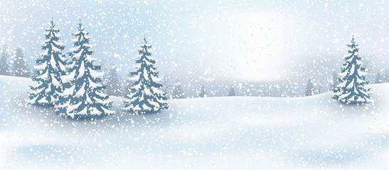 Weihnachten Hintergrund, Landschaft im Winter