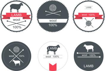 Set of labels, badges and design elements