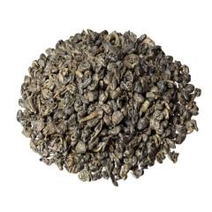 Gunpowder tea isolated on the white background.