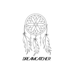 hand to draw a Dreamcatcher