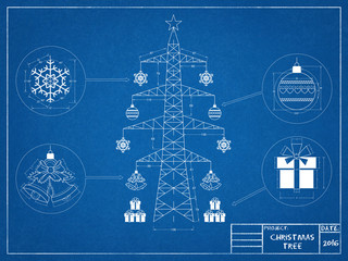 Christmas tree - blueprint