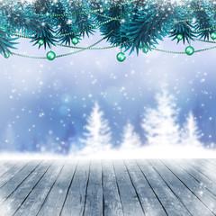 Snow Winter Blue Background