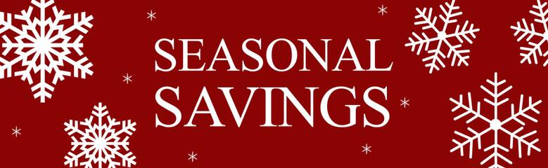 Christmas sale web banner seasonal savings