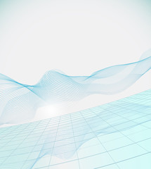 Bright background with abstract wave.Vector illustration.