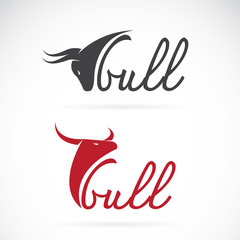 Vector design bull is text on a white background.