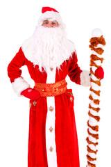 Christmas Santa Claus. Portrait Isolated on White Background