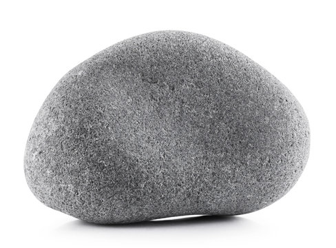 Gray stone isolated