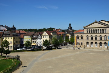 View in the city of Coburg, Bavaria, region Upper Franconia, Germany