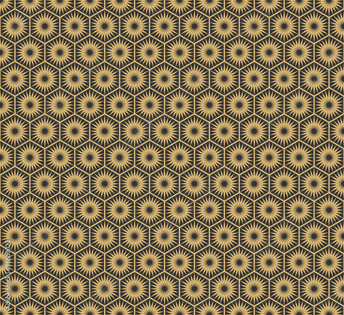 Art Deco Seamless Vintage Wallpaper Patterns Vector Stock Image
