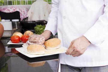 Chef Presented Ingredients or Hamburger