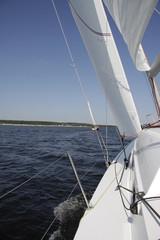 Вид с парусной яхты