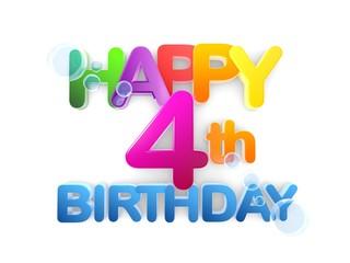 Happy 4th Birthday Title