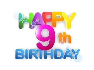 Happy 9th Birthday Title