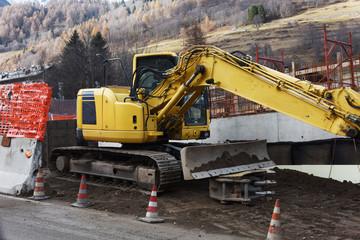 escavatore ruspa scavatore scavare macchina cat