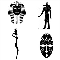African silhouettes, tradition, history, religion