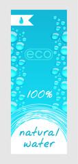 Natural water banner
