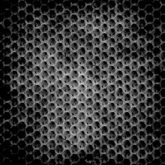 Hexagon black grunge background
