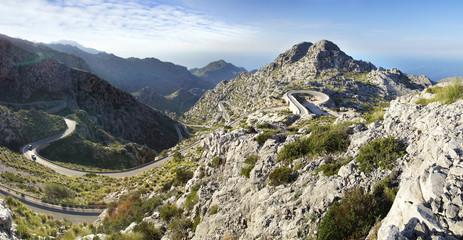 Mountain road to Sa Calobra. Mallorca, Spain