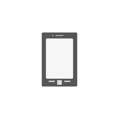 Smartphone on a white background in a flat style