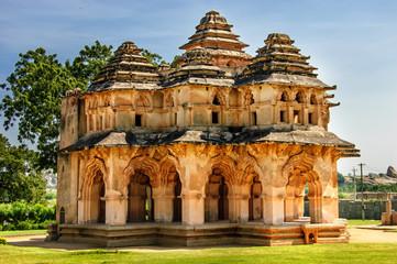 Fototapete - Ancient ruins of Lotus Temple, Royal Centre, Hampi, Karnataka, India