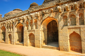 Fototapete - Elephant Stables, Royal Centre, Hampi, Karnataka, India