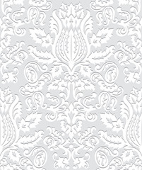 Paper Damask Wallpaper Pattern