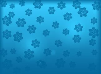 Blue Christmas background. Winter holiday background. New Year background