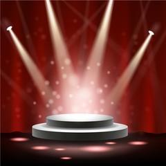 Spotlight shining on stage