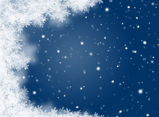 Blue Christmas Background. New Year background. Winter holiday