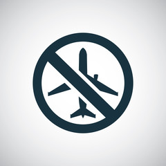 airplane forbidden icon