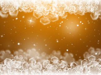 Gold Christmas background. New Year background. Winter holiday