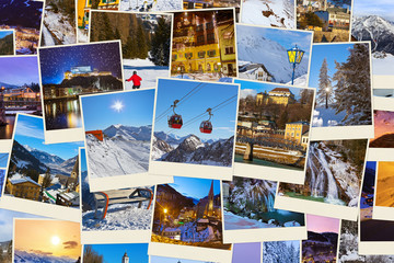Stack of mountains ski Austria images (my photos)