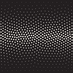 Vector Seamless Black And White Stippling Gradient Halftone Dot Work Pattern