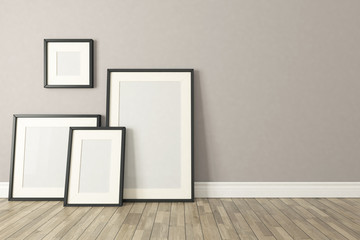 Black picture clear frames decor, background, template design