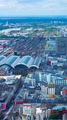Top view of railway depot