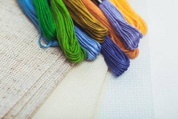 The cross-stitch crafts