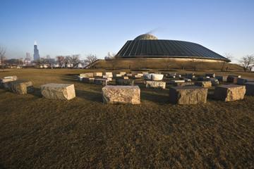 Fototapete - Stones next to Planetarium
