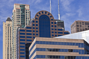 Fotomurales - Chicago - mozaique of buildings