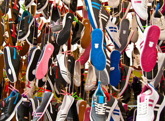 Hanged Colorful Sport Shoes