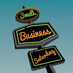 Small Business Saturday retro road sign