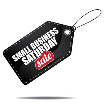 Small Business Saturday sale tag. EPS 10 vector illustration.