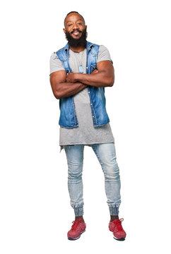 cool black man full body