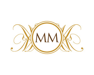 MM Luxury Ornament Initial Logo