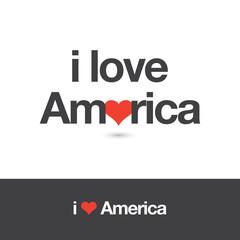 I love America. Editable logo vector design.